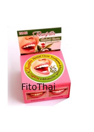 Тайская травяная зубная паста отбеливающая ISME 25 гр