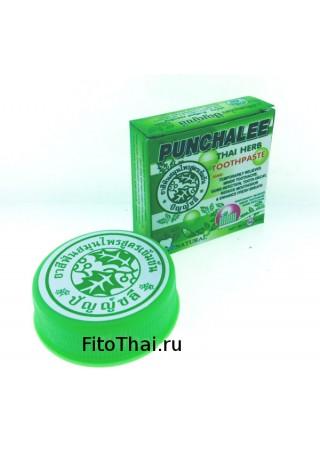 Тайская круглая травяная зубная паста 5 звезд Punchalee 25гр