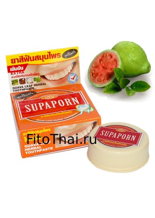 Тайская зубная паста с экстрактом гуавы «Supaporn» 25г