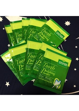 Зубной порошок травяной Tooth polishing powder plus Herb 20гр 10 пакетов