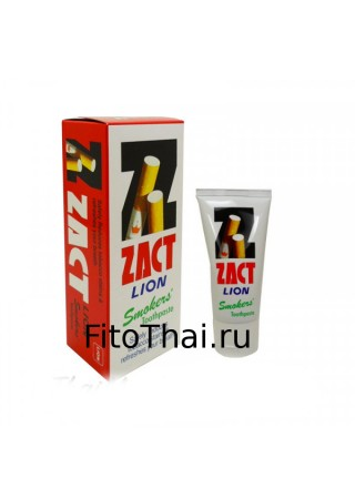 Супер отбеливающая паста для курильщиков ZACT lion 160гр